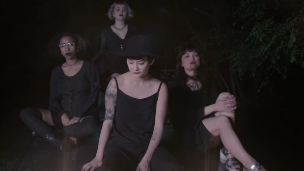 "Japanese Breakfast in a scene for her new video for the song ""Jane Cum"""