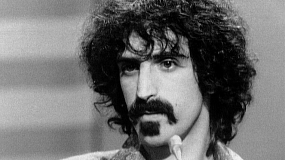 Frank Zappa being interviewed on British television in 1973. (Sony Pictures Classics)