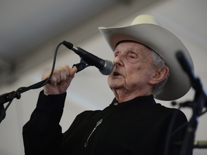 Ralph Stanley performs at the Stagecoach Country Music Festival in 2012.