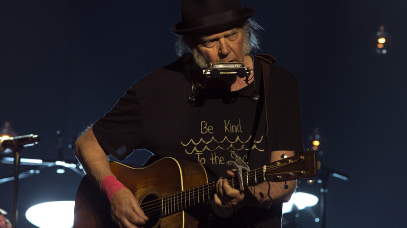 Neil Young photo via NPR World Cafe session