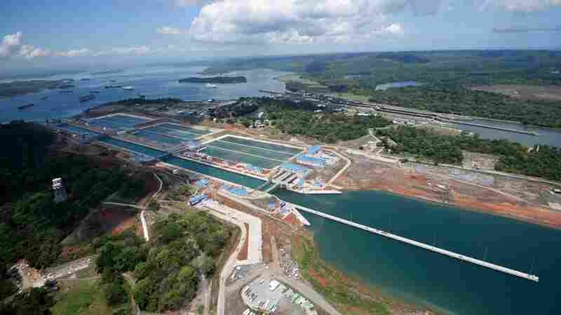 Aerial view showing the new Panama Canal expansion at the Gatun Locks in Colon, Panama. Panamanian President Juan Carlos Varela is set to host an inauguration ceremony of Panama's newly expanded canal on Sunday.