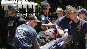 Amid Violence At White Nationalist Rally In Sacramento, At Least 10 Hospitalized