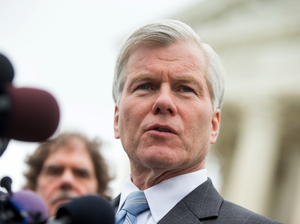Former Virginia Gov. Bob McDonnell speaks outside the Supreme Court in April.