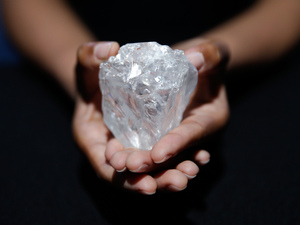 Sotheby's auction house plans to offer the Lesedi la Rona diamond in London on June 29.
