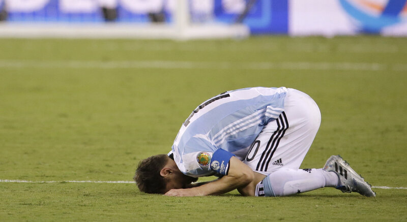 55582d50f Soccer Shocker  Lionel Messi Says He s Retiring From Argentina s National  Team