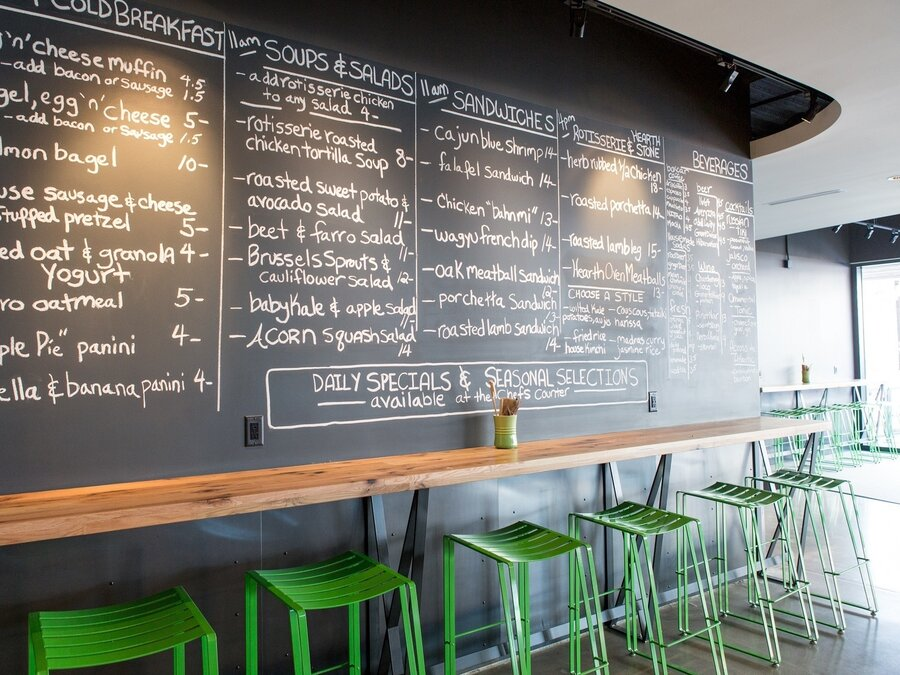 brider in denver features slate gray floors a chalkboard menu and metal elements - Gray Restaurant 2016