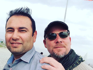 Zabihullah Tamanna (left) and David Gilkey in Afghanistan on June 2.