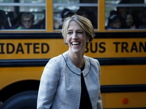 Former gubernatorial candidate Zephyr Teachout is one of several female Democratic candidates running in Tuesday's primaries. She is competing against college professor Eric Kingson in New York.