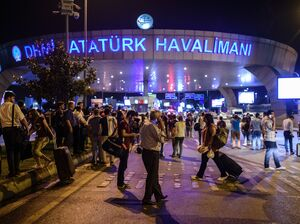 Dozens are injured after at least one explosion and gunfire at the Ataturk airport in Istanbul on Tuesday.