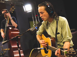 Marlon Williams in the World Cafe performance studio.