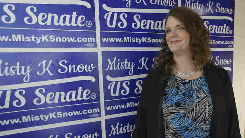 Democratic candidate for Senate Misty Snow in Salt Lake City.