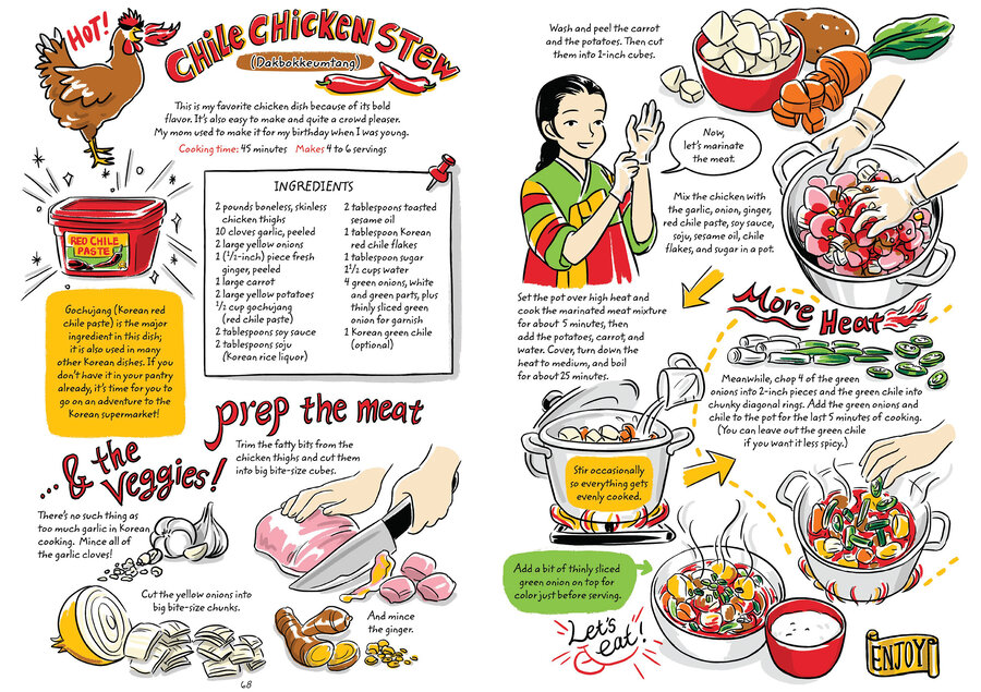 Learn to make korean food with a charming graphic cookbook the enlarge this image forumfinder Gallery