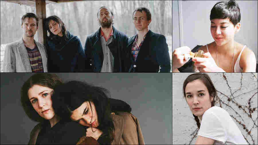 Clockwise from upper left: Big Thief, Japanese Breakfast, Margaret Glaspy, Overcoats