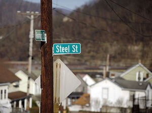 A street sign in downtown Johnstown, Pa.