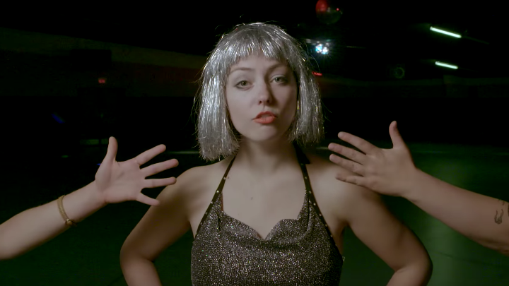 "Angel Olsen in a scene from her new video for the song ""Shut Up Kiss Me"""