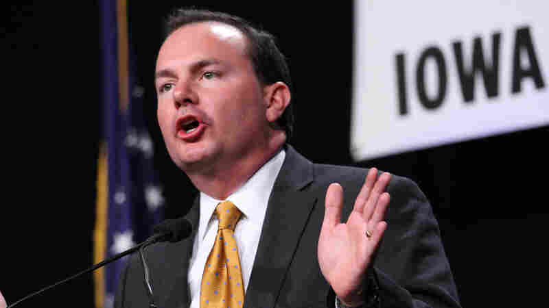 Sen. Mike Lee, R-Utah, speaks during the Iowa Faith and Freedom Coalition's Friends of the Family Banquet in Des Moines, Iowa, in November 2013. Lee is one of the few candidates calling for 17th Amendment repeal who have won office.