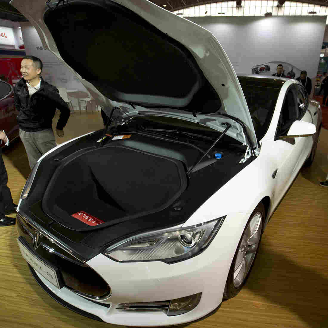 A Tesla Model S like the one seen here at an auto show earlier this year was in autopilot mode when it crashed into a tractor trailer.