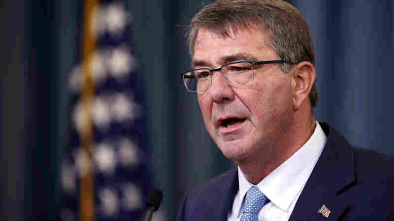 Defense Secretary Ash Carter announces new rules allowing transgender individuals to serve openly in the U.S. military, during a news conference at the Pentagon on Thursday.