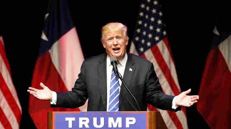 Republican presidential candidate Donald Trump in Dallas, Texas last week.