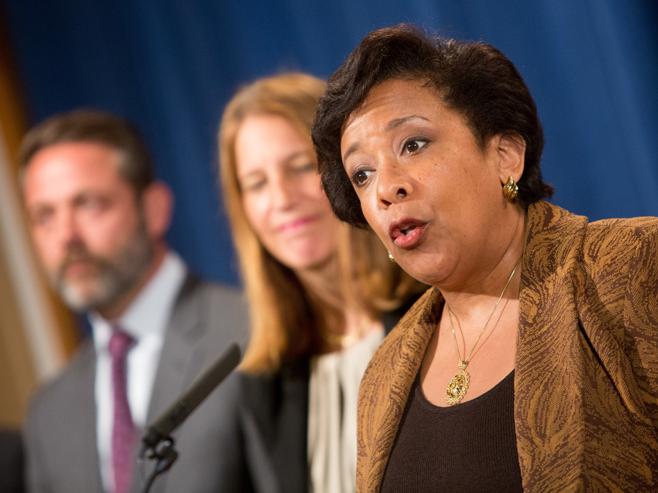 Attorney General Loretta E. Lynch speaks at a June 22 news conference in Washington. (Allison Shelley/Getty Images)