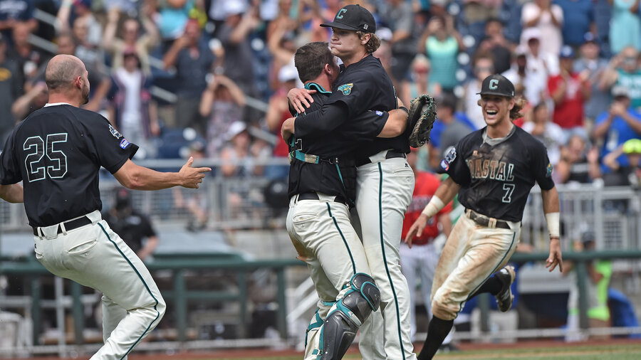 Coastal carolina university wins first ever national title in coastal carolina university wins first ever national title in college world series sciox Gallery