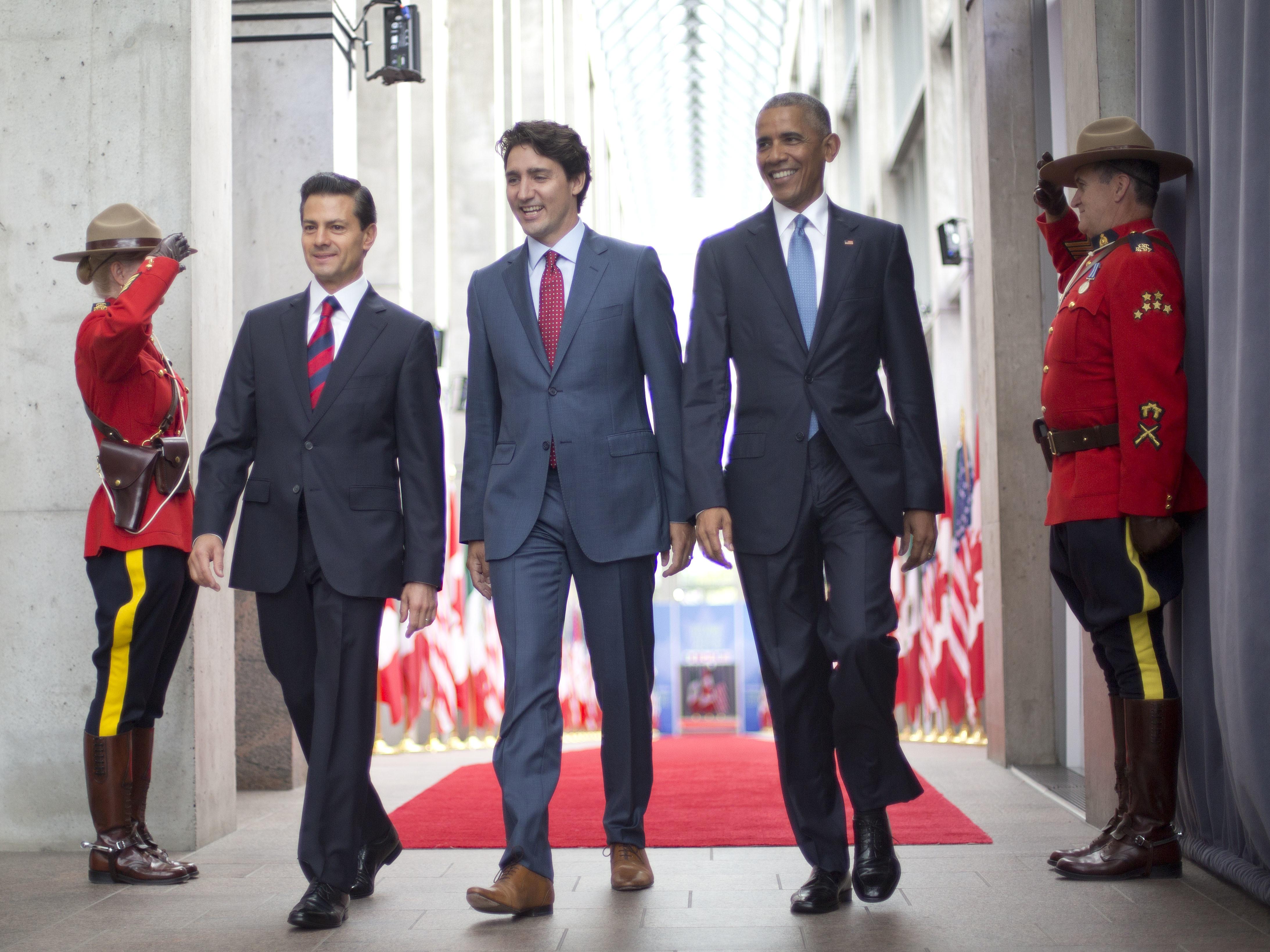 #MemeOfTheWeek: Obama, Trudeau And Peña Nieto As The Three Amigos