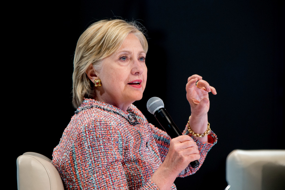 Democratic presidential candidate Hillary Clinton speaks at a Digital Content Creators Town Hall at the Neuehouse Hollywood in Los Angeles on Tuesday. (Andrew Harnik/AP)