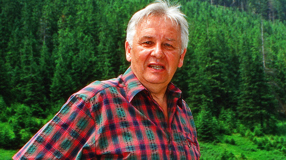 Polish composer Henryk Górecki, in Zakopane, Poland, in 1994 — two years after a recording of his Symphony No. 3 became a surprise hit. Górecki died in 2010. (AFP/Getty Images)