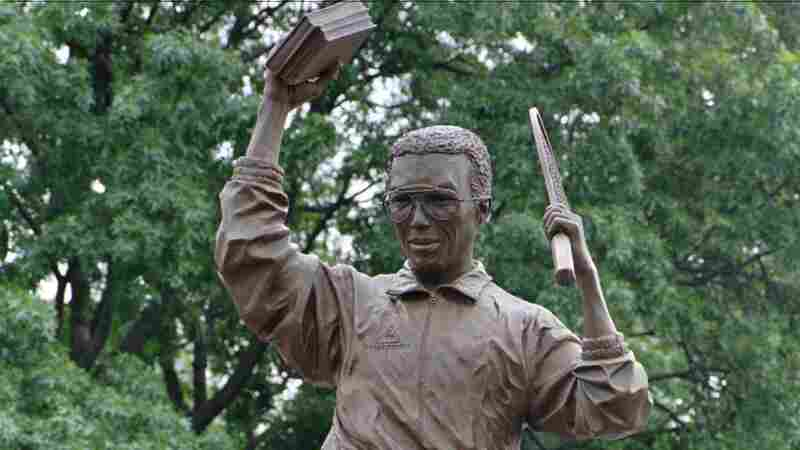 This statue of tennis great Arthur Ashe by sculptor Paul Di Pasquale was unveiled on Monument Ave. in Richmond, Va., almost 20 years ago, on July 10, 1996.