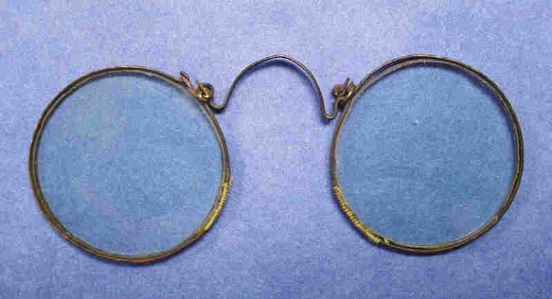 Spectacles with copper frame, circa 1600-1800. Jenny Benjamin of the American Academy of Ophthalmology's Museum of Vision says a lack of innovation in frames over certain time periods can make dating spectacles quite difficult.
