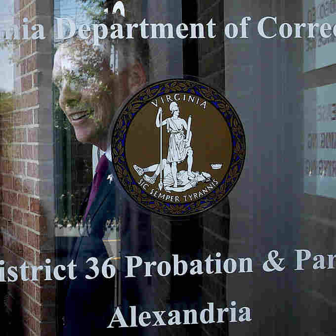 Virginia Gov. Terry McAuliffe leaves an event at the Alexandria Probation and Parole Office on May 24, 2016 in Alexandria, Virginia.