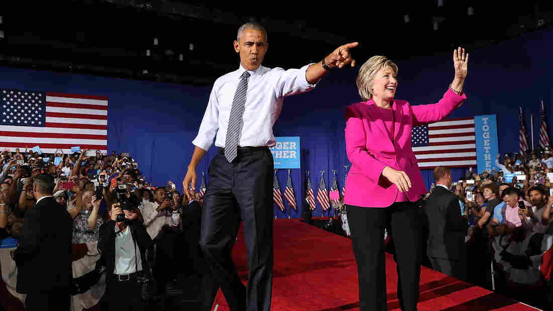 President Obama joins Hillary Clinton on the campaign trail for the first time this year at a rally in Charlotte, N.C.