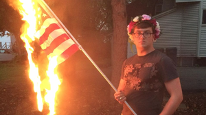 Illinois Man Is Arrested After Burning U.S. Flag, Won't Face Charges