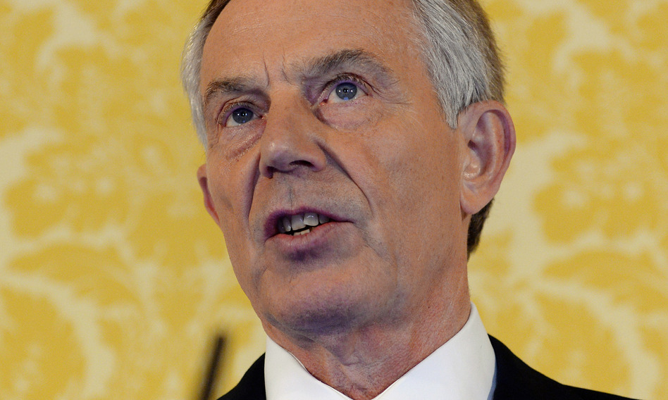 Former British Prime Minister Tony Blair holds a news conference at Admiralty House in London after retired civil servant John Chilcot presented The Iraq Inquiry Report on Wednesday. (Stefan Rousseau/AP)