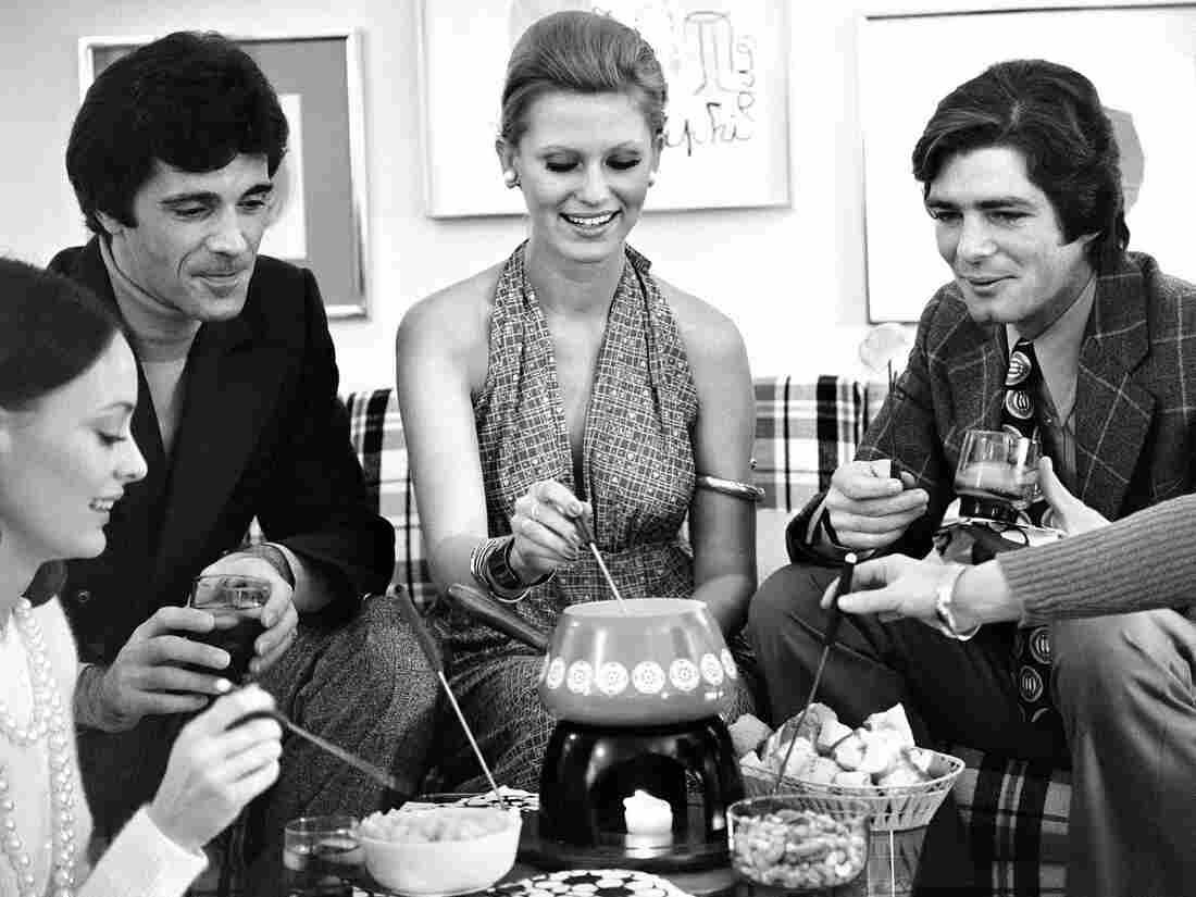 Fondue party in the 1970s.