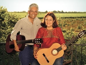 Agustín Lira (left) and Patricia Wells Solórzano.