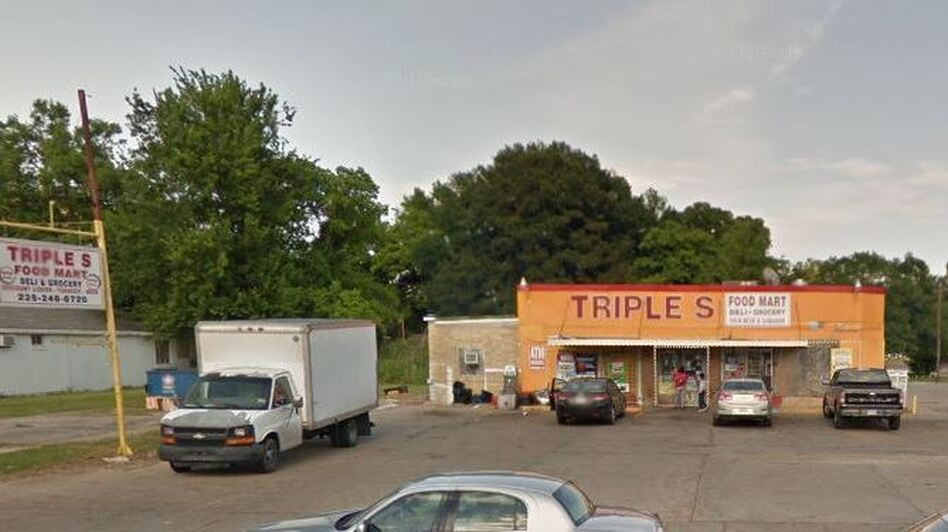 The Triple S convenience store was the scene of a shooting shortly after midnight Tuesday — and the site of protests later that day, after video of a police-involved shooting circulated. (Google Maps/Screenshot by NPR)
