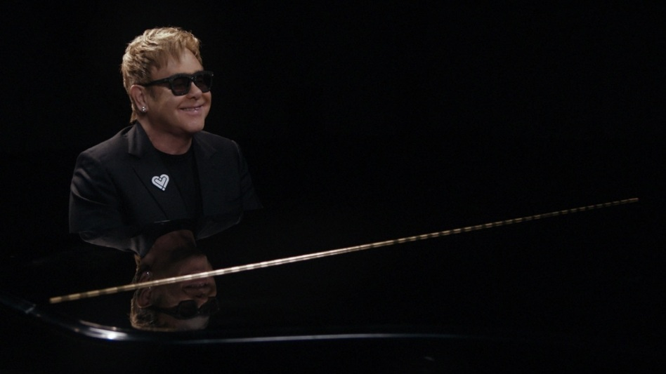 "Elton John performing his song ""A Good Heart."" (Courtesy of the artist)"