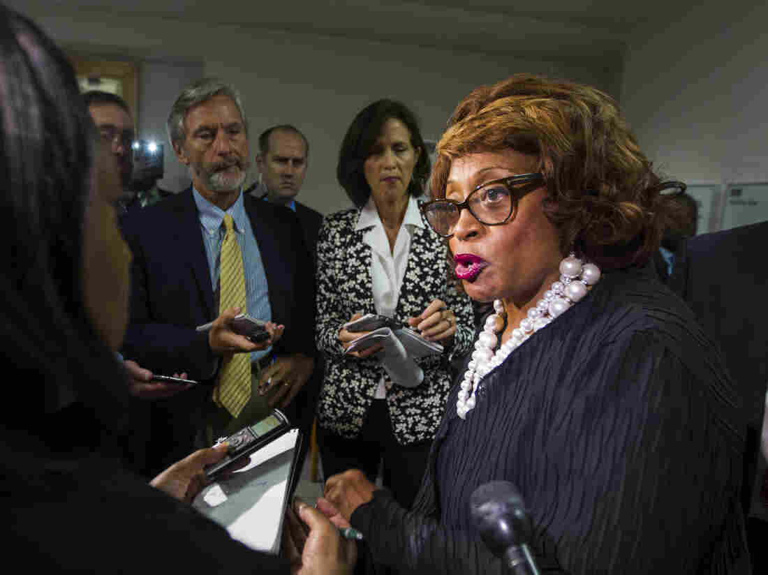 Rep. Corrine Brown, pictured last year, has been indicted on federal fraud and conspiracy charges for what prosecutors call a scheme to misuse funds raised for a charitable organization.