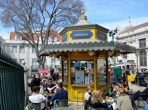 Quiosque de Refresco do Largo da Sé, in Alfama, Lisbon. More than a century and a half ago, these ornate little kiosks began cropping up in the city's parks and plazas, becoming the heart of public life. But they fell into disrepair and all but disappeared, until an architect and an entrepreneur joined forces to restore them to their former glory and place of prominence.