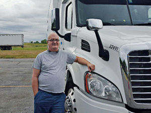 Scott Klein, 55, is a long-haul truck driver and former Sanders supporter. He is undecided which candidate he will vote for in the coming election, but does not like Trump, which sets him apart from most of the other drivers he talks to.