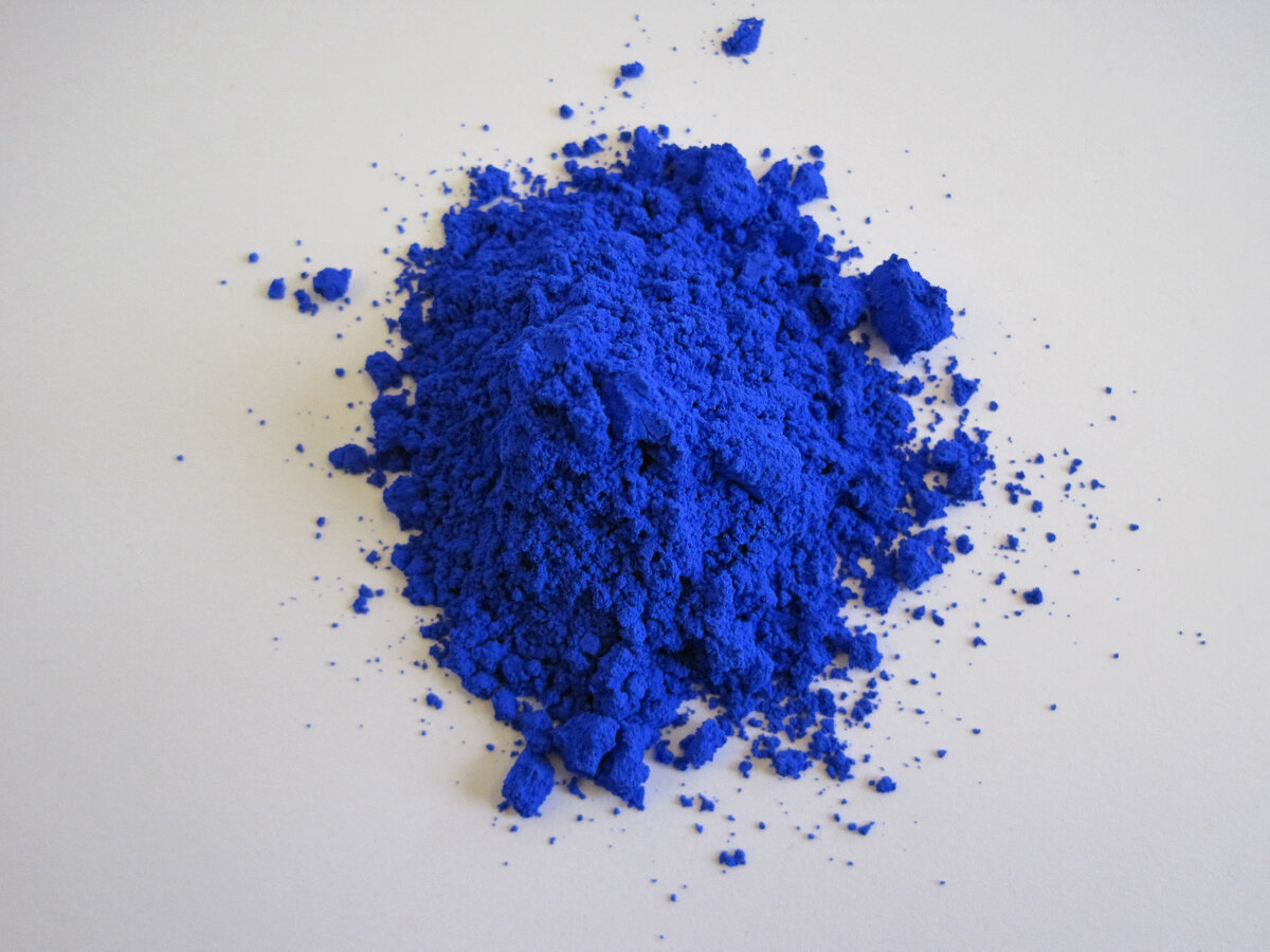 Blue pigment discovered at Mas Subramanian's lab at Oregon State University.