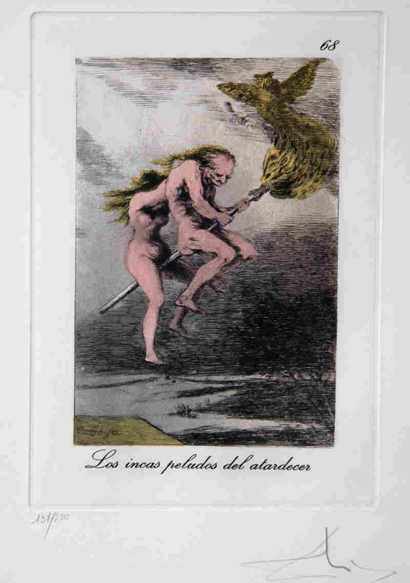 Los incas peludos del atardecer, a reworking of Francisco Goya