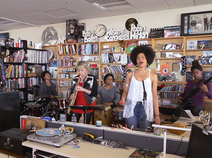 Tiny Desk Concert with Jane Bunnett and Maqueque.