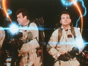 Bustin' Makes Them Feel Good: Ernie Hudson, Dan Aykroyd, Bill Murray, and Harold Ramis in 1984's Ghostbusters.
