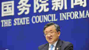 Chinese Vice Foreign Minister Liu Zhenmin speaks during a conference at the State Council Information Office on Wednesday in Beijing.