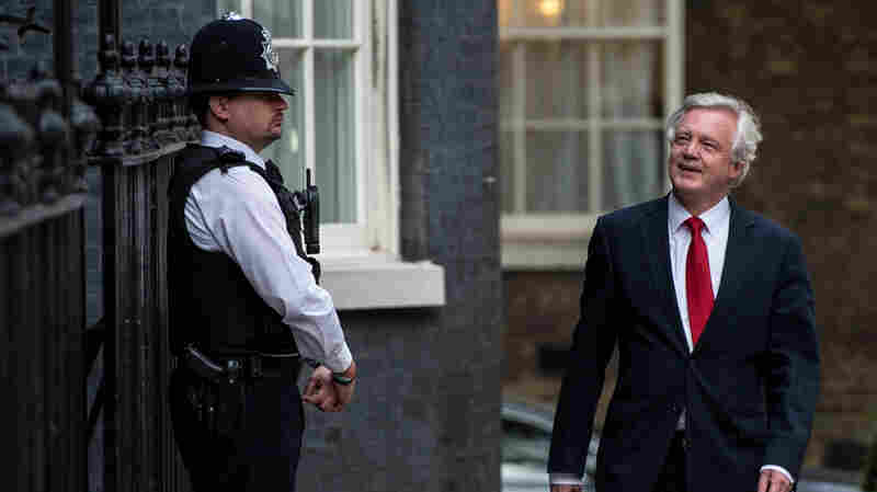 Newly appointed Secretary of State for exiting the European Union David Davis arrives at 10 Downing Street. He and five other Cabinet members were announced Wednesday by Prime Minister Theresa May.