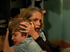 Gabriel Bateman and Teresa Palmer star in the big-screen adaptation of Lights Out, a film that began as a low-budget short, uploaded to YouTube.