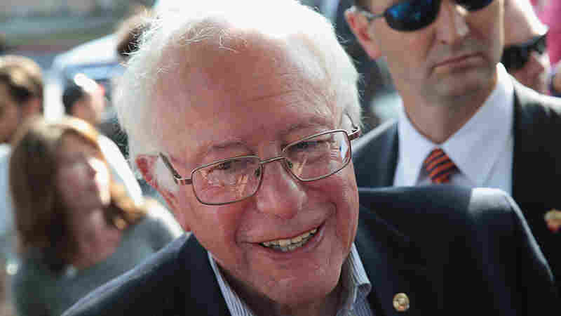 Democratic presidential candidate Sen. Bernie Sanders campaigns in Los Angeles on June 7.