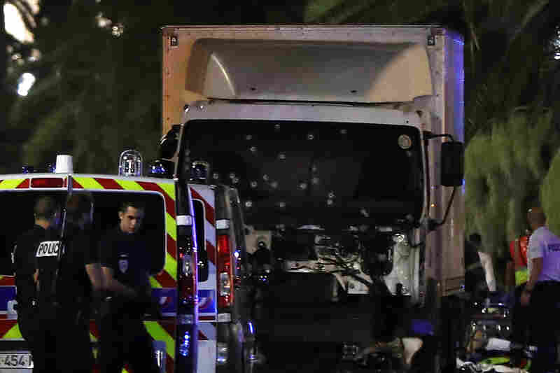The former mayor of Nice said dozens of people were killed in the attack Thursday. He urged residents to stay indoors.